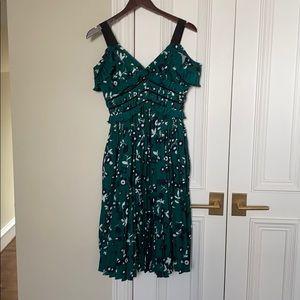 Green dress with flowers Self Portrait